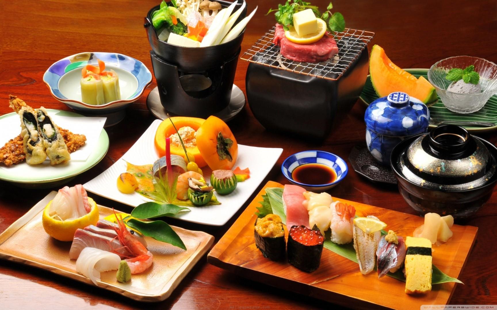 Đồ ăn trong nhà hàng tại Nhật Bản