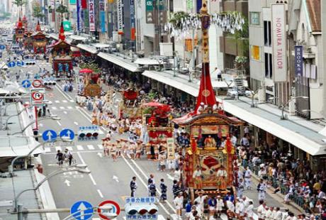 Lễ hội Gion Matsuri thu hút đông đảo người dân tham gia